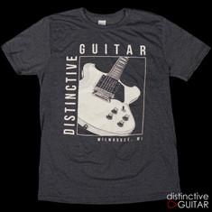 Distinctive Guitar T-Shirt Heather Navy
