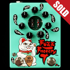 Zvex Hand Painted Fuzz Factory 7 Seafoam Green