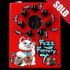 Zvex Hand Painted Fuzz Factory 7 Red