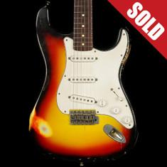 2010 Nash S-63 Relic Stratocaster 3 Tone Sunburst