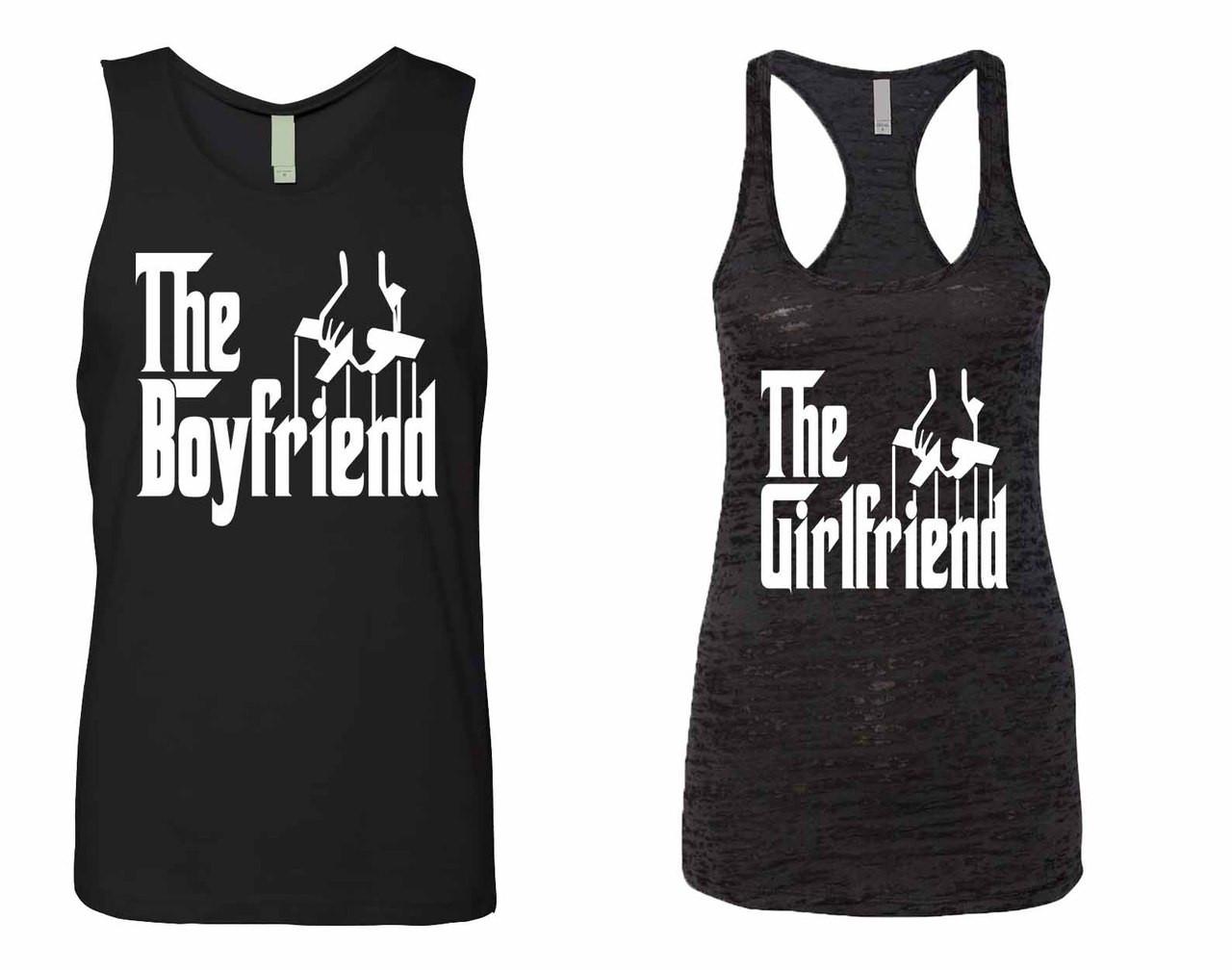 c577d30492ed9 The boyfriend Jersey The girlfriend Burnout Tank Top couples gift shirts