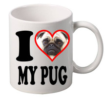 I Love My Pug coffee mugs gift