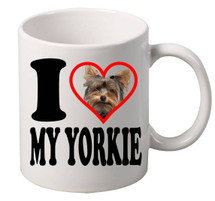 I Love My Yorkie coffee tea mugs gift
