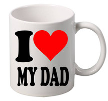 I Love My DAD coffee tea mugs gift