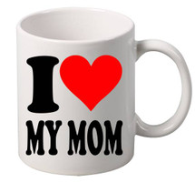 I Love My MOM coffee tea mugs gift