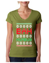 Bah Humbug Christmas Sporty Tee Shirt