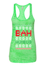 Bah Humbug Christmas Racerback Burnout Tank Top