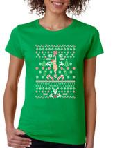 HO HO HO Christmas Stripper Missy Fit Ladies T Shirt