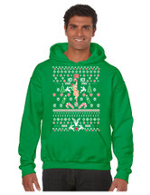 HO HO HO Christmas Stripper men Hooded Sweatshirt