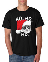 HO HO NO Grumpy Cat men T-Shirts