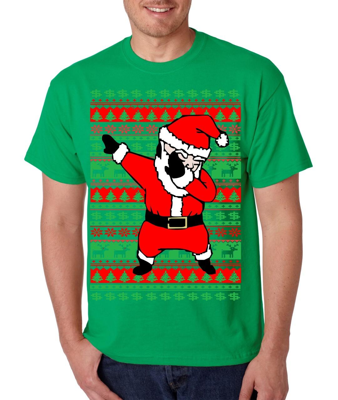 ed15c799 Dabbing Santa Claus Merry christmas gift men T-Shirts. Price: $14.99. Image  1