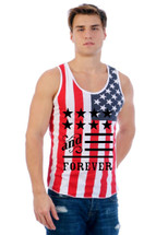American anf forever MEN TANK top US FLAG