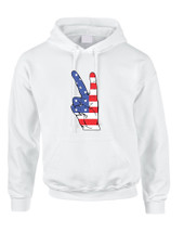 Adult Hoodie American Flag Hand 4th Of July Cool Party Top