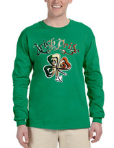 Men's Long Sleeve Irish Pride Shamrock St Patrick's Shirt