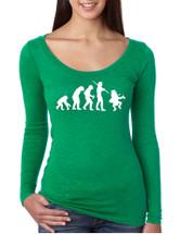 Women's Shirt Irish Evolution Leprechaun St Patrick's Shirt