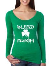 Women's Shirt Bleed Irish St Patrick's Day Party Irish Shirt