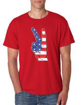 Men's T Shirt American Flag Hand 4th Of July Tee Shirt