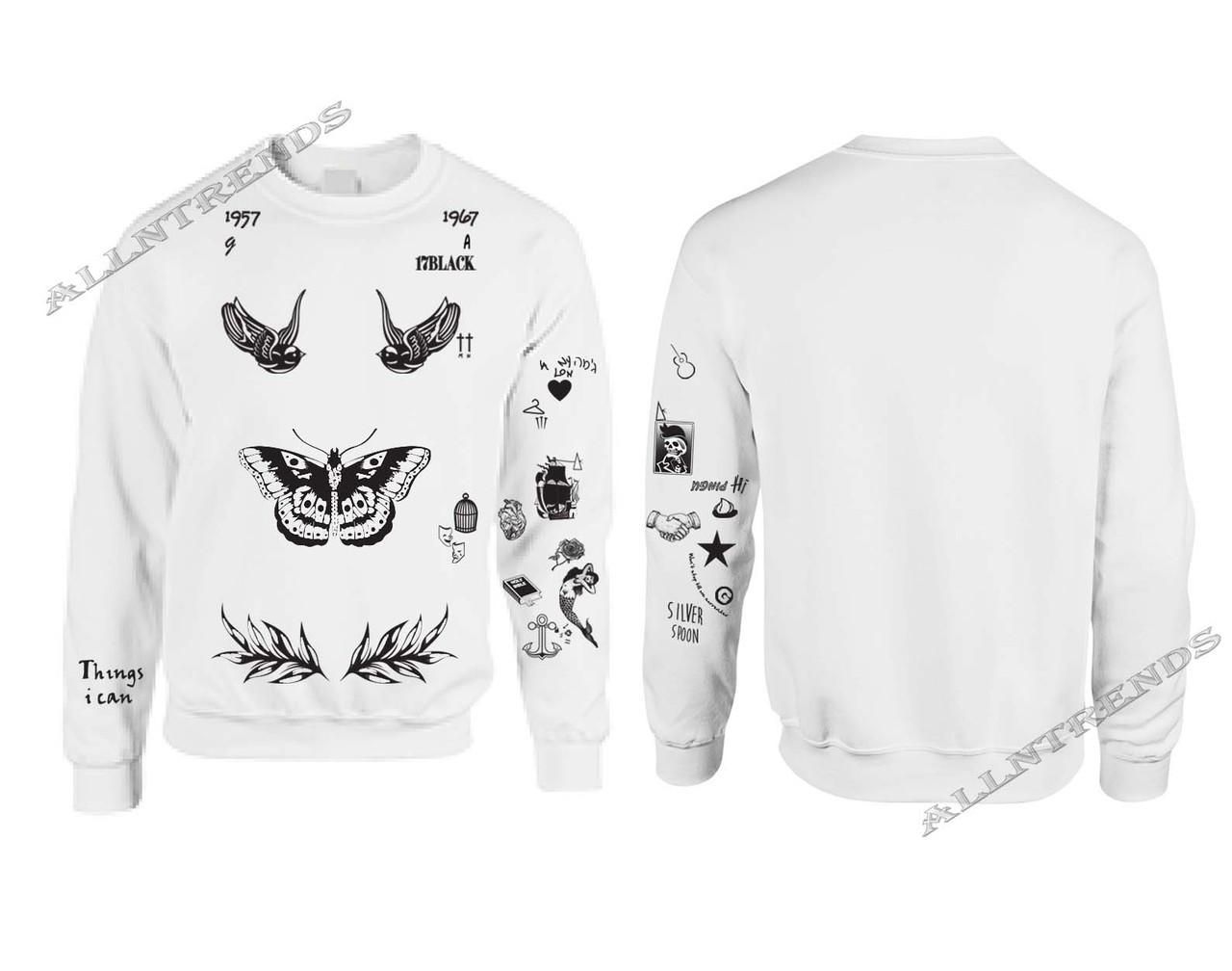 0567f08461 Harry Styles Tattoos Sweatshirt One Direction. Price   19.99. Image 1