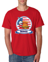 Men's T Shirt Fast Food 'merica Love America USA Top