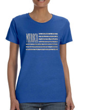 Women's T Shirt Merica Glitter Silver Flag 4th Of July Shirt