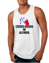 Men's Tank Top United States Of Alcohol Cool 4th Of July Top