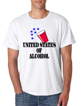 Men's T Shirt United States Of Alcohol Cool 4th Of July Tee
