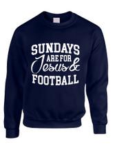 Adult Sweatshirt Sundays Are For Jesus And Football Love