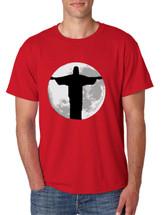 Men's T Shirt Moon Jesus T Shirt Cool Stuff Love Jesus