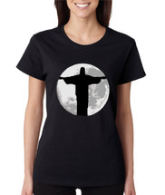 Women's T Shirt Moon Jesus T Shirt Cool Stuff Love Jesus