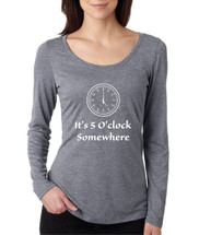 Women's Shirt It's 5 O'clock Somewhere Drinking Beer Party Top