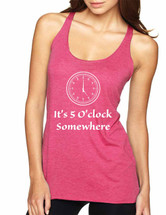 Women's Tank Top It's 5 O'clock Somewhere Drinking Party Top