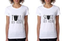 Set Of 2 Women's T Shirt Tall Short Best Friend Matching BFF