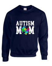 Adult Sweatshirt Autism Mom Autistic Awareness Top