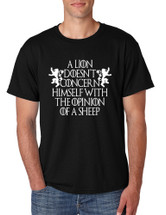 Men's T Shirt Lion Doesn't Concern Himself With Opinion Of Sheep