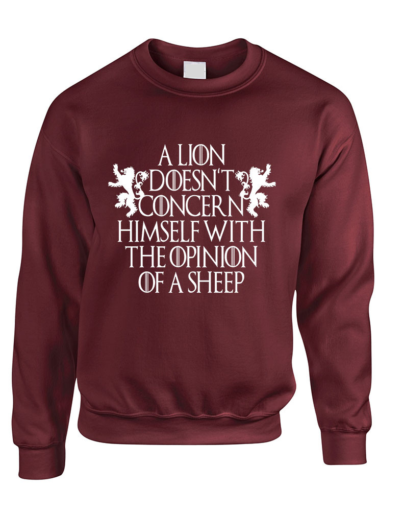 Allntrends Adult Sweatshirt Leave One Wolf Alive Sheep Are Never Safe L, Maroon