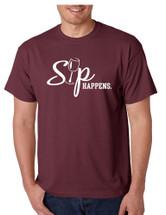 Men's T Shirt Sip Happens Wine Lovers Shirt Popular Gift