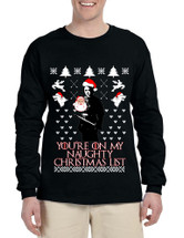 Men's Long Sleeve My Naughty Xmas List Arya Stark Ugly Christmas