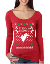 Women's Shirt Christmas Is Coming House Stark Ugly Xmas Gift
