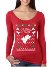 Women's Shirt Christmas Is Coming House Stark Ugly Xmas Gift
