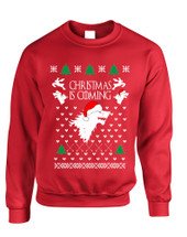 Adult Sweatshirt Christmas Is Coming House Stark Ugly Xmas Gift