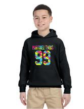 Kids Youth Hoodie Martinez Twins 99 Neon Camo Print Trendy