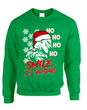 Adult Sweatshirt Christmas Joker Smile Its Christmas Ugly Holiday
