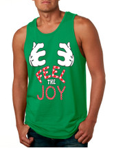 Men's Tank Top Feel The Joy Cute Xmas Shirt Trendy Holiday Gift