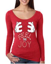 Women's Shirt Feel The Joy Cute Christmas Shirt Trendy Gift