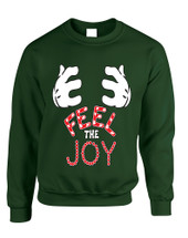 Adult Sweatshirt Feel The Joy Cute Christmas Gift Holiday Top