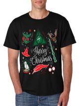 Men's T Shirt Harry Christmas Cool Ugly Xmas Hot Holiday T Shirt