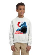 Kids Youth Sweatshirt Santa Jaws Merry Christmas Ugly Xmas Funny