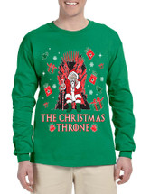 Men's Long Sleeve The Christmas Throne Santa Trendy Ugly Xmas
