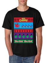 Men's T Shirt Love U Santa Merry Ugly Christmas Top Cute Gift