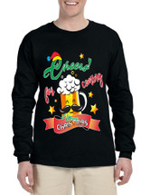 Men's Long Sleeve Cheers For Coming Beer Lover Xmas Gift Idea